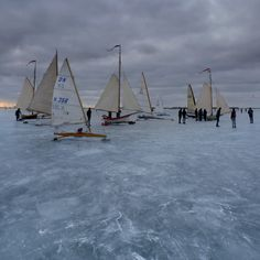 Ice yachting, The Netherlands