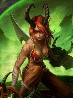 """Demon Hunter"" by KotanRyuk on DeviantArt. (World of Warcraft fan art, blood elf)"