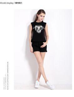 583bfe687f1 Haoduoyi summer clothing Fashionable Printing back Hollow knot tie  Sleeveless T shirt China Wholesale Clothing