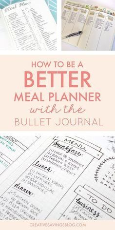The bullet journal could be your ticket to meal planning success. Use one of these creative meal planning layouts to eat healthier, save money, and eliminate dinnertime chaos! Bullet Journal Décoration, Bullet Journal Banners, Bullet Journal Layout, Journal Art, Bullet Journal Project Planning, Goal Journal, Planning Menu, Planning Budget, Meal Planning Calendar