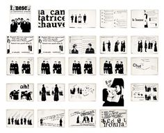 """Robert Massin's interpretation of Eugène Ionesco's play  """"La Cantatrice chauve"""" Parigi 1964"""