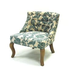 iKat Blue / Off White Fabric Accent Chair  194.99