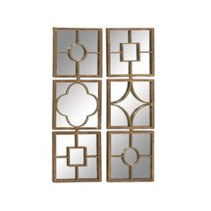 Astonishing Metal Mirror Wall Decor Assorted 2