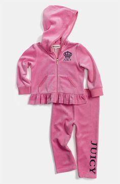 Ms. P might need one of these...Juicy Couture Velour Hoodie & Pants (Infant) available at #Nordstrom