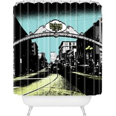 At Purehome DENY Designs // Amy Smith Gaslamp Shower Curtain