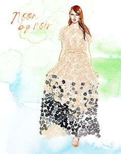 Noon by Noir: Fashion Week Illustrated: Artist Samantha Hahn's Painted Take On the NYFW Runways : Lucky Magazine