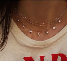 Boormanie Shell Layered Necklace for Women Girls,Boho Hawaii Wakiki Sea Beach Shell Choker Collar Layer Conch Shell Necklace Gold 14 Karat Gold und Diamant Es ist In The Stars Charm Halskette geschrieben – Luna Skye Dainty Jewelry, Cute Jewelry, Jewelry Gifts, Jewelery, Jewelry Accessories, Jewelry Ideas, Jewelry Trends, Silver Jewelry, Trendy Jewelry