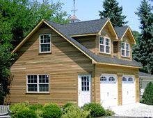 Shed dormer custom garages and garage on pinterest for Reverse gable garage