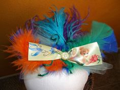 Tinkerbell feather headband with mickey ear by ladybugladyjjjsalon, $14.84