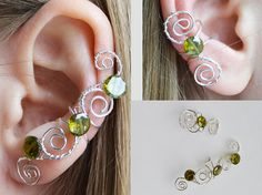 Shop put  favorites, we often have discounts and promotions! Pls, keep an eye on the store - https://www.etsy.com/ru/shop/EarringsEarcuffs      I make a gift with every order :)      Vintage style never goes out of fashion, because among fashionistas will always be lovers of vintage clothes and jewelery. In the photo ear cuffs paired to both ears, stylized antique. These could easily wear any of the ladies at the French court, or even the Grand Empress. And now these earrings clips…