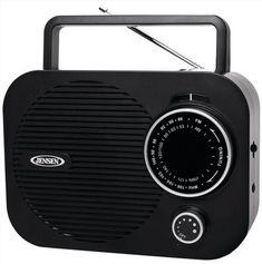 Jensen AM FM Portable Radio Black AC Adapter or Battery Aux In New Factory Box #Jensen