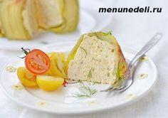 Куриное суфле в кабачках