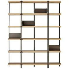 For Sale on - 'ZigZag' is a high bookcase, designed by Konstantin Grcic and manufactured by Driade, featuring structure in bronze painted steel and oak veneered shelves. Oak Shelves, Wooden Shelves, Modern Bookcase, Etagere Bookcase, Stainless Steel Polish, American Walnut, Walnut Veneer, Deco, Zig Zag