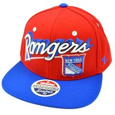 NHL LNH New York Rangers Snapback Hat Cap Red Blue White Flat Bill Zephyr Hockey by Zephyr. Save 7 Off!. $27.95. Stand out in the crowd AND own a hat that will last forever with this high quality hat made by the incomparable Zephyr brand. Team name and logo embroidered on front panel in 3D. Zephyr logo embroidered on left side panel. Features Snapback closure, flat bill, and green underbrim. Authentic Zephyr merchandise. Officially Licensed NHL Product.