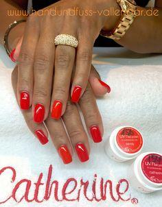 #catherine #red #gel #design #nailart #hand  #handpainted