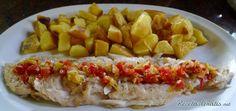 Filete de pescado al horno con patatas