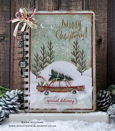 Home For The Holidays - Christmas Planner Notebook created for the Tim Holtz Inspiration Series 2017