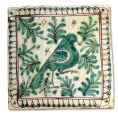 This Sicilian tile depicts a bird. The tile is entirely handmade and hand painted in Caltagirone by Giacomo Alessi, one of the most relevant ceramic artists in Italy. For his Medieval Collection, Alessi draws inspiration from the subjects of the Sicilian pottery made during the Middle Ages. He is particularly fascinated by the animals, which were popular subjects and symbols of human vices and virtues. At the time the color palette of Italian pottery was very limited ...