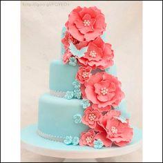Pastel para boda en tonos #cayenne #Cake #Wedding #YUCATANLOVE