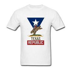 Texas Republic Rodeo Bear Men Tshirts Screen Printing Tshirt Men Short  Sleeve Crewneck Cotton Plus Size Brand Clothing 5b823fb57