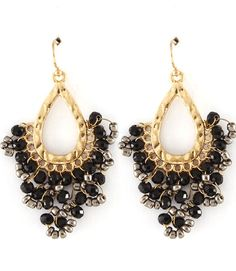 Spoilt Girl  - Black Glass bead Teardrop earring, $21.00 (http://spoiltgirl.com.au/black-glass-bead-teardrop-earring/)