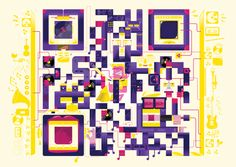Something I'd been thinking about to update the EFS barcode logo.    Too cool ... QR Codes by Am I Collective