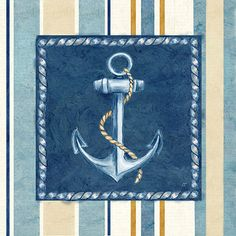 RB7826CC <br> Nautical Stripe III <br> 12x12