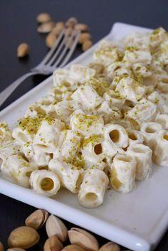 Pasta con crema di ricotta al pistacchio