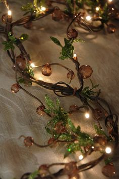 Battery Amber Crystal Vine Garland