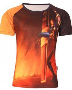 League of Legends t shirt for men plus size short sleeve Singed 3D tshirt-