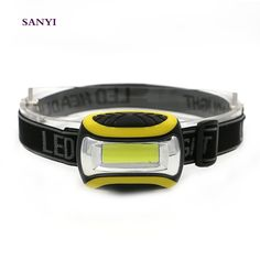 1.58$  Know more - SANYI Mini LED COB Headlamp Fishing Light PVC Head Torch Lamp With Headband Power By 3 AAA Batteries Yellow Color   #magazineonline