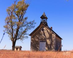 Schoolhouse in Cedar Point, Kansas