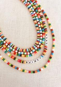 DIY Perler Bead Jewelry - Honestly WTF Diy Perler Bead Necklace, Diy Perler Beads, Perler Bead Templates, Diy Necklace, Necklace Ideas, Beaded Anklets, Beaded Jewelry, Beaded Bracelets, Boho Jewelry