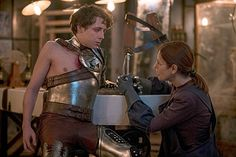 CITY -- 'Science and Magic' Episode 104 -- Pictured: (l-r) Gerran Howell as Jack, Gina McKee as Jaack --