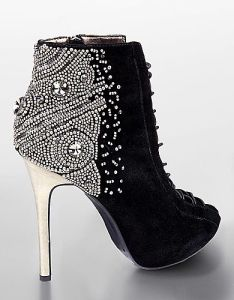 Sam-Edelman Quantum-beaded & Jeweled suede stiletto booties