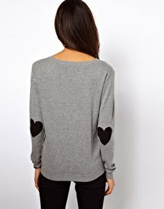 Okay, not red. But gotta love the shape and the placement (not to mention the sentiment): black elbow hearts