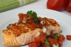 Receta de pescado en salsa fresca - Como comer después de una cirugía bariátrica
