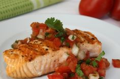 Grilled Fish with Fresh Salsa Topping