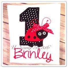 Lady bug birthday shirt  by Unameit316 on Etsy, $20.00