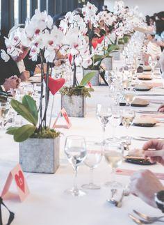 Decoração de mesa com orquídeas // Orchids table decoration