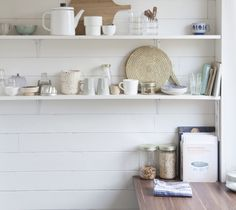 the cook books next to the jars, the place-mat made of rope... love it
