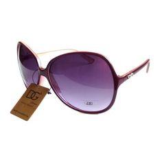 c80981b3a48b8 DG EYEWEAR Women s VINTAGE Celebrity Style Designer Oversized Sunglasses  BURGUNDY by DG Eyewear.  5.50.