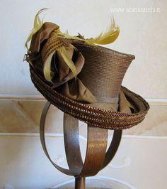 Abiti Antichi- cappello 98 c. 1880 straw top hat