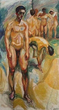 Edvard Munch (1863-1944) was een Noorse kunstschilder. Confrontaties met ziekte en dood lieten in hem de hartstocht voor de kunst ontwaken. Munch was niet alleen in de schilderkunst actief; nadat hij in 1894 begon te etsen, maakte hij ook nog lithografieën en houtsneden. Zijn werken waren vooral post-impressionistisch, maar droegen ook veel bij tot het expressionisme.- 1923