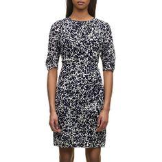 Buy Whistles Crystalised Floral Print Dress, Blue Online at johnlewis.com £155