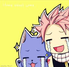 Fairy Tail Natsu et Happy Natsu Fairy Tail, Fairy Tail Ships, Anime Fairy Tail, Fairy Tail Funny, Fairy Tail Art, Fairy Tail Guild, Fairy Tales, Fairy Tail Happy, Nalu