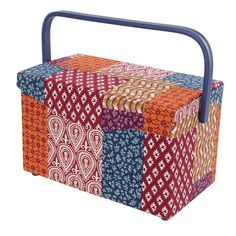 SEWING BASKET - LARGE RECTANGLE | Birch Creative Sewing Baskets, Large Baskets, Craft Kits, Pin Cushions, Nifty, Birch, Creative, Outdoor Decor, Crafts