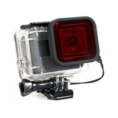 Housing Case for GoPro Hero 65 Waterproof Case Diving Protective Housing Shell 45m with Red Filter for Go Pro Hero 65 Action Camcorder -- Check out the image by visiting the link.