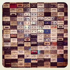 A wall of cassette tapes. Via @dmjuice