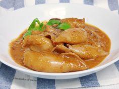 Calamares con salsa romesco